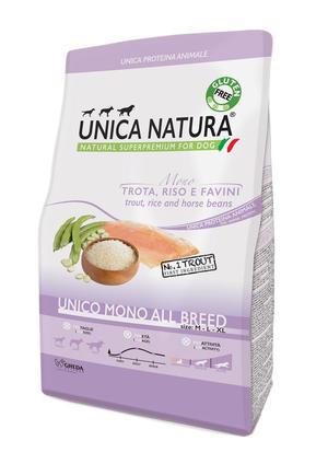 Unica Natura All Breed Cane Trota Disponibile nei formati 2,5 - 12 Kg