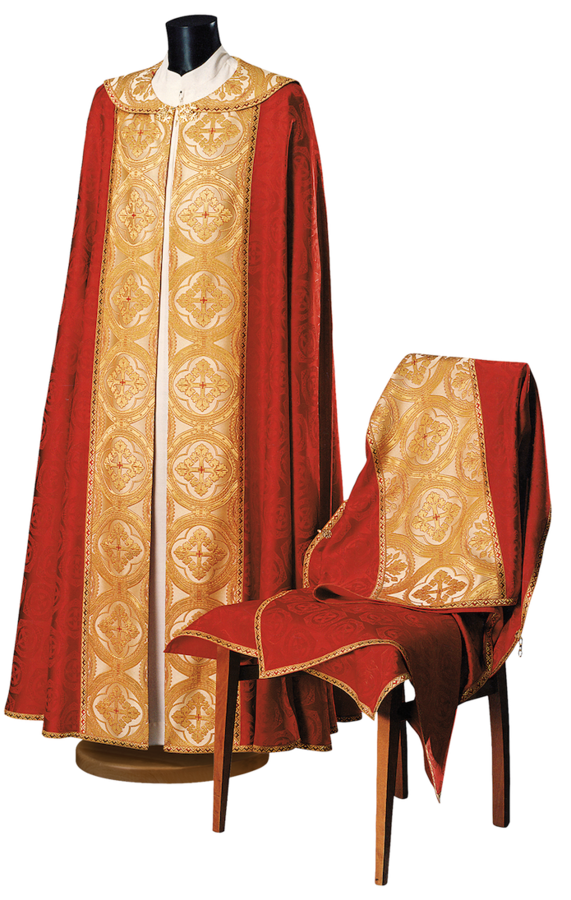 Cope and humeral veil in damask Cod. 86/P43010