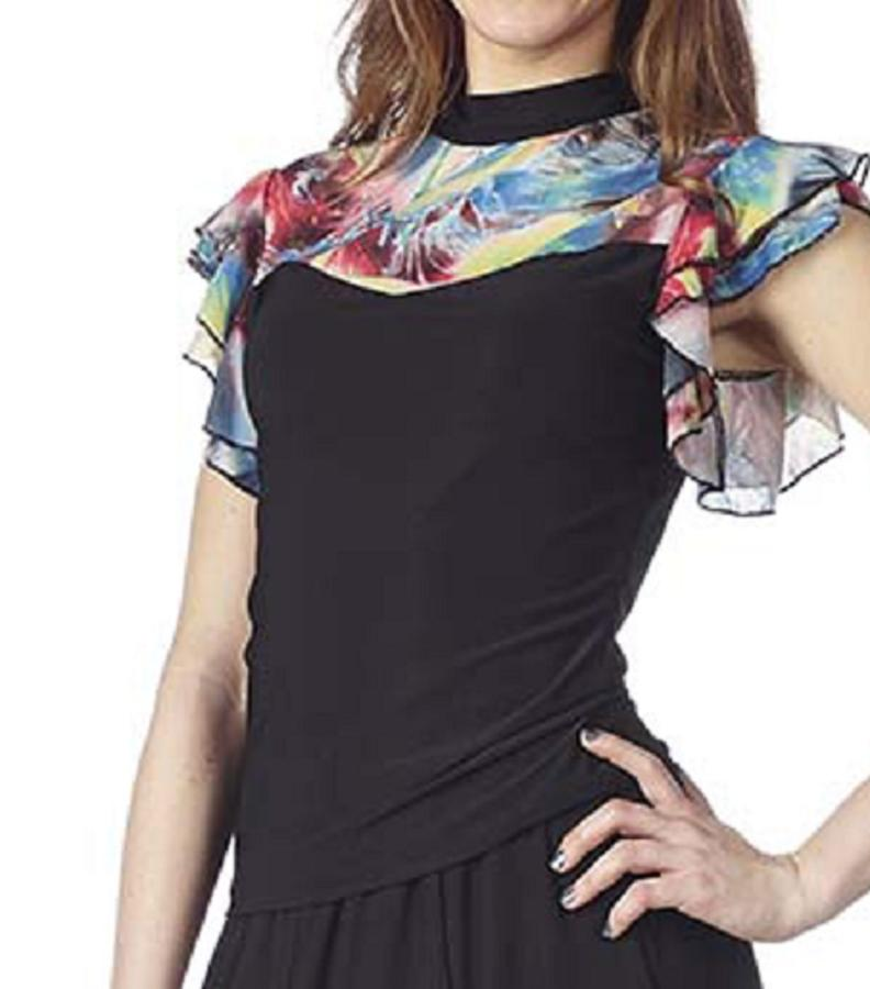 COMPLETE SWEATER AND SKIRT WITH SLITS IN T-SHIRT AND MULTICOLOR FANTASY 3-0022