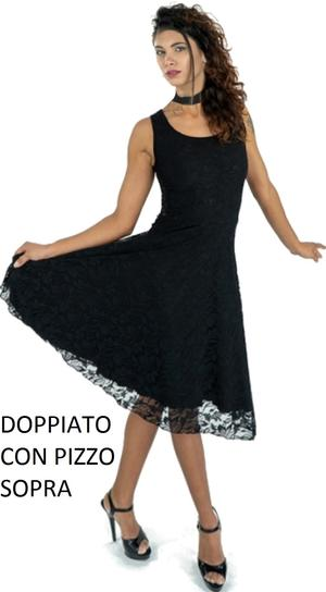 Copia di DANCE DRESS TO DOLL IN MULTI-LAYER LACE WITH FINAL VOLANT 4-0089