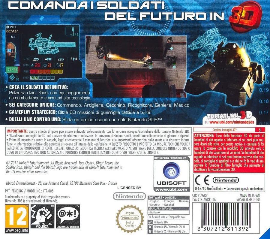 Ghost Recon Shadow Wars 3D NUOVO! - Nintendo DS - Ver. ITA
