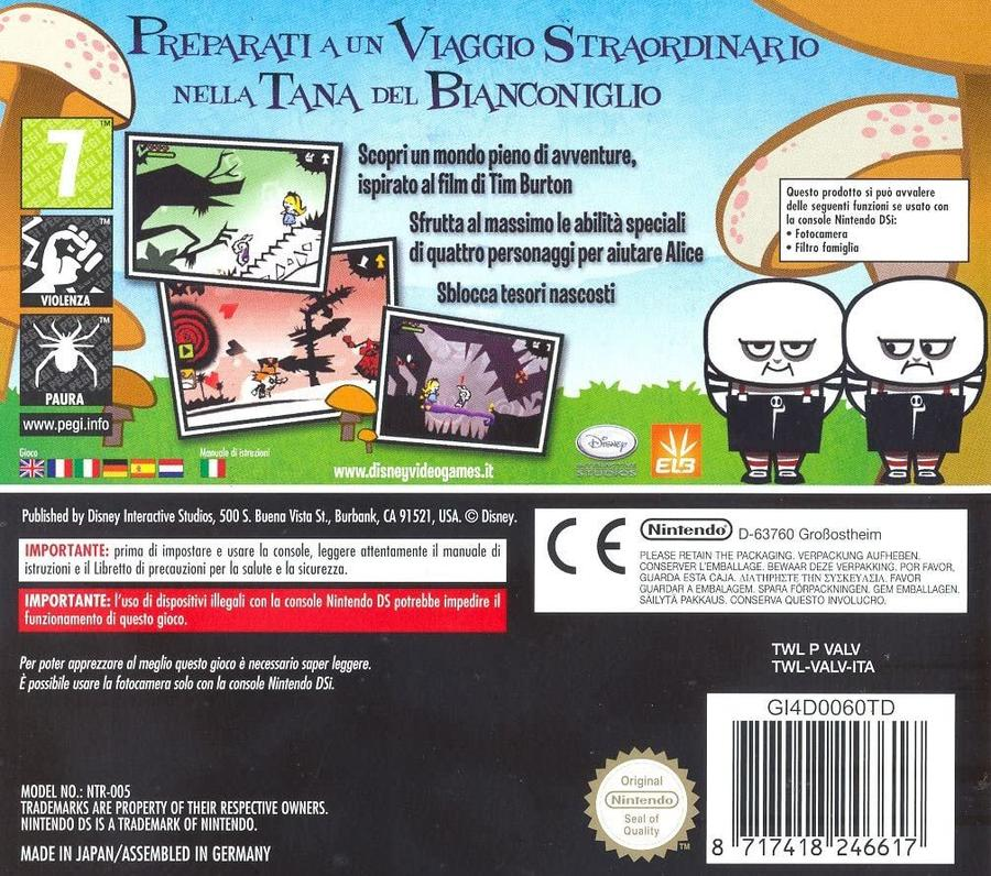 Alice In Wonderland NUOVO! - Nintendo DS - Ver.ITA