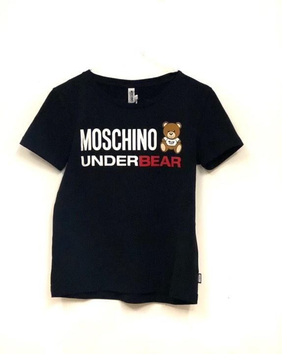 T-shirt Moschino teddy nera