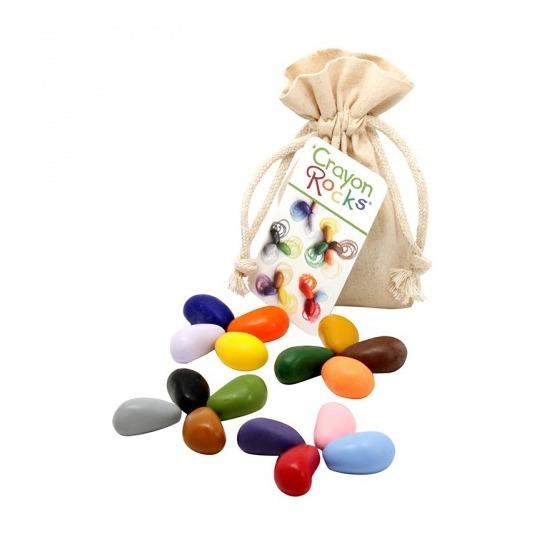 Crayon Rocks 16 pastelli di soia in sacchetto di cotone