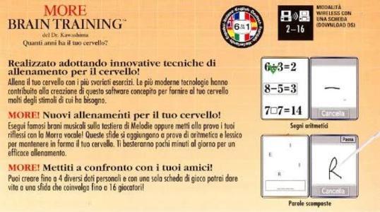 More Brain Training Del Dr. Kawashima NUOVO! - Nintendo DS - Ver. ITA