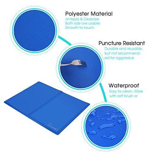 Nobleza Tappetino Blu Refrigerante per Animali - 50X90 cm