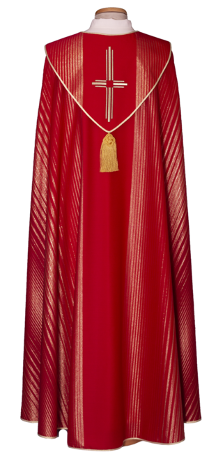 Piviale in lana lurex