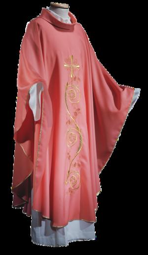 Casula rosa in lana