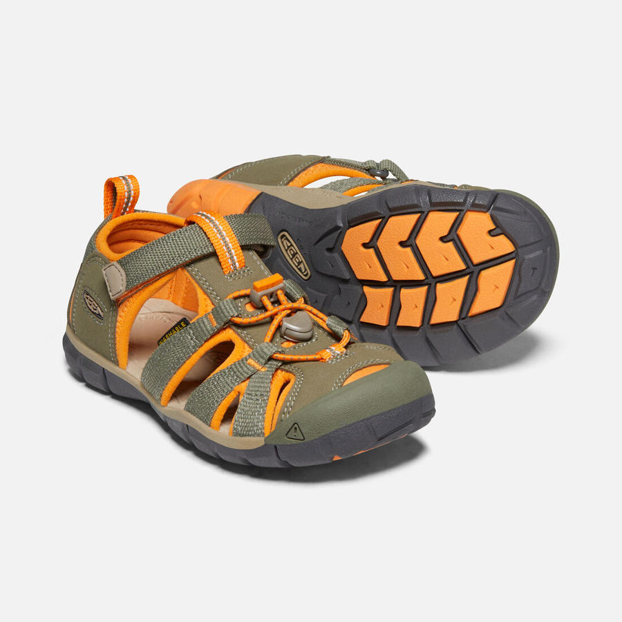 KEEN - Seacamp II CNX Sandals - Dusty Olive / Russet Orange