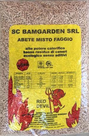 Pellet Red Devil 15 Kg/Bancale