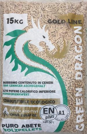 Pellet Green Dragon Gold 15 Kg/Bancale