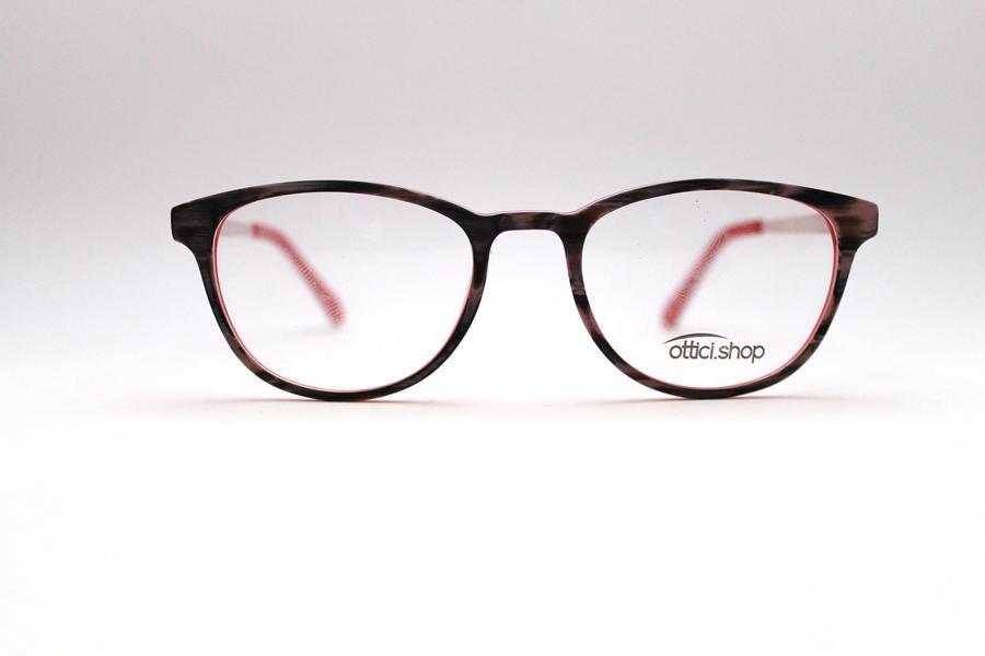 Montatura in plastica OcchialeAmico OSH Wood Red - Lenti da vista incluse -
