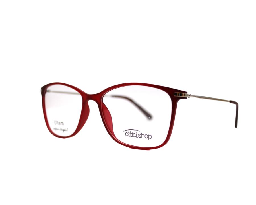 Montatura in plastica Ottici Shop OSH 06 Red  - Lenti da vista incluse -