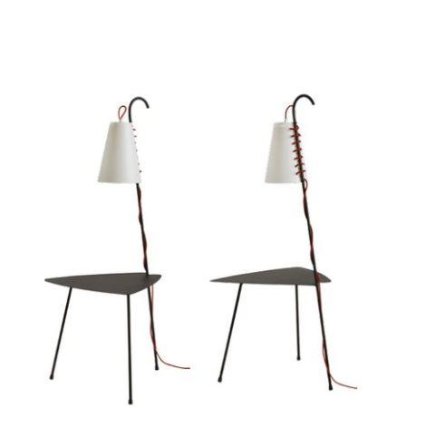 Tavolino con Lampada Chiara di Emporium in Metallo Verniciato e Sandylex, Varie Finiture – Offerta di Mondo Luce 24