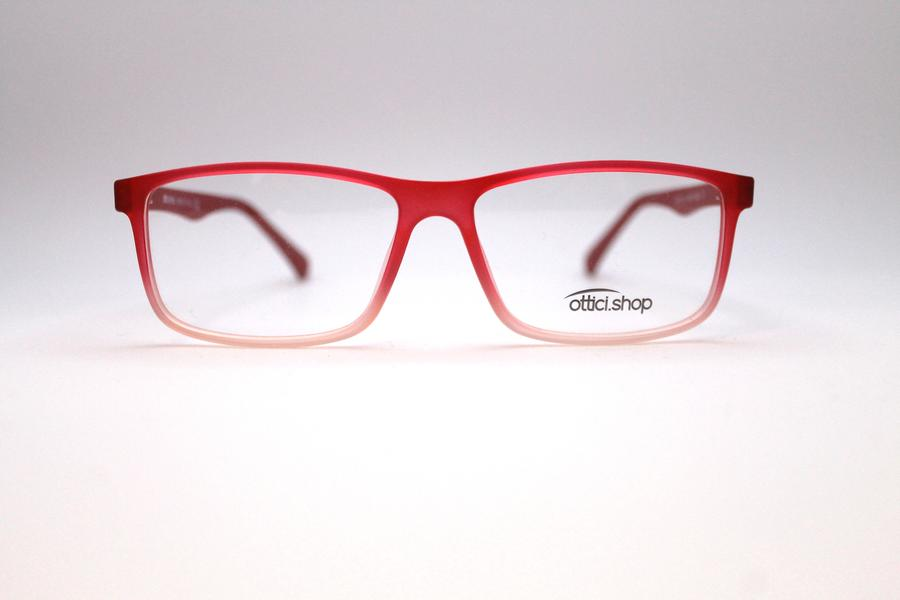 Montatura in plastica OcchialeAmico OSH 23 Crystal Red - Lenti da vista incluse -