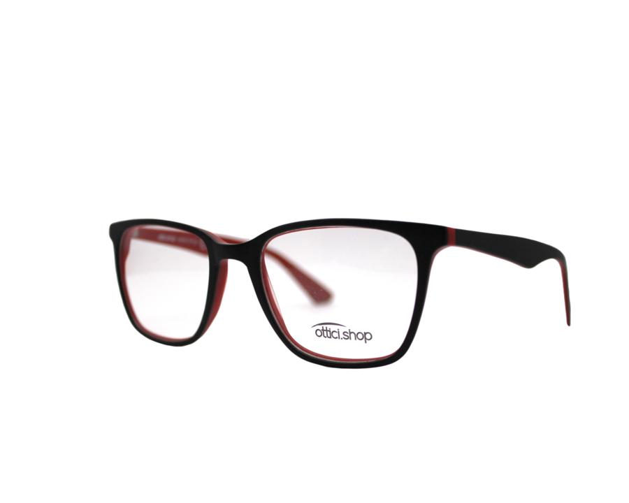 Montatura in plastica OcchialeAmico OSH 24 Nero/rosso - Lenti da vista incluse -