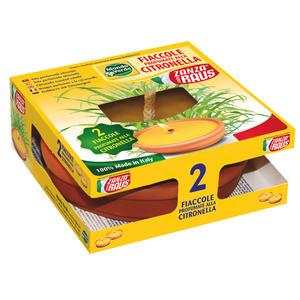 Fiaccola in Cotto Citronella confezione da 2 pz