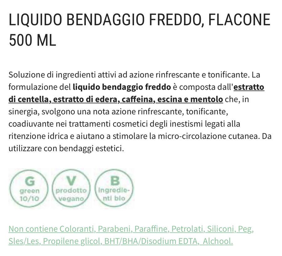 Liquido per bendaggio freddo ANTICELLULITE E PER RITENZIONE IDRICA E ADDOME