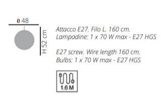 Lampada a Sospensione Reload di Emporium in Materiale Plastico Termofuso e Metallo, Varie Finiture – Offerta di Mondo Luce 24