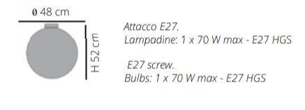Lampada da Soffitto/Parete Reload di Emporium in Materiale Plastico Termofuso e Metallo, Varie Finiture – Offerta di Mondo Luce 24