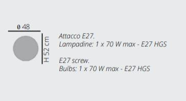Lampada da Terra Reload di Emporium in Materiale Plastico Termofuso e Metallo, Varie Finiture – Offerta di Mondo Luce 24
