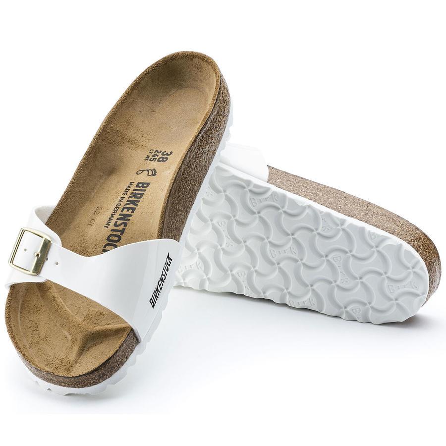 Birkenstock - Madrid - White Patent suola Bianca