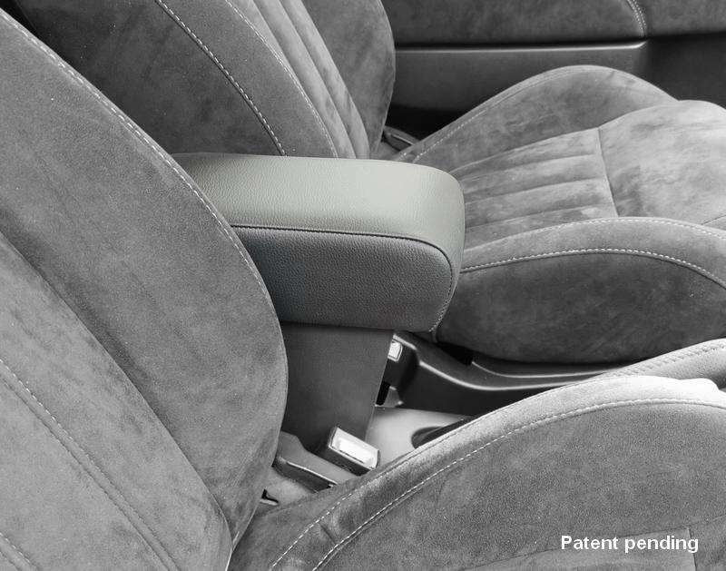 Bracciolo mod. PREMIUM regolabile con portaoggetti XXL per Fiat 500, 500C, 500S (dal 2015>)