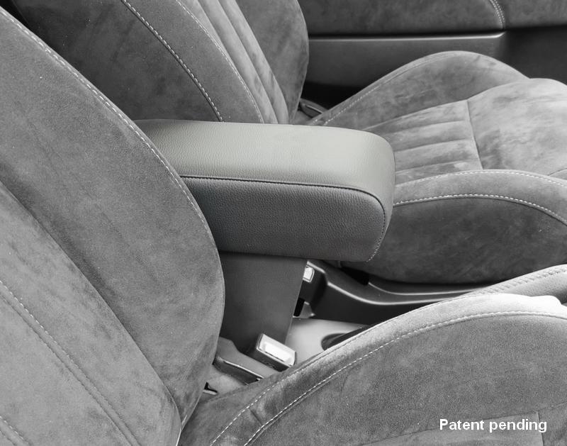 Accoudoir mod. PREMIUM réglable en longueur avec porte-objet XXL pour Fiat 500, 500C, 500S (2015>)