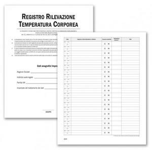 Registro per Rilevazione Temperatura Corporea - Buffetti 3219TC100