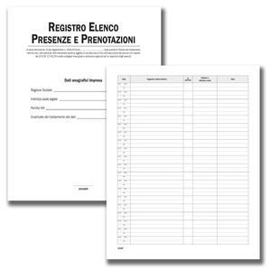 Registro Elenco Presenze e Prenotazioni  - Buffetti 3219EP100