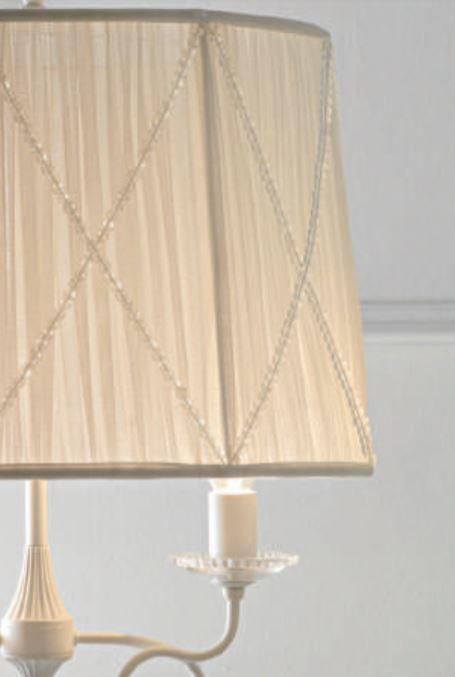Lampada da Tavolo Paris di Febo in Tessuto Tulle con Perle di Vetro e Metallo Verniciato - Offerta di Mondo Luce 24