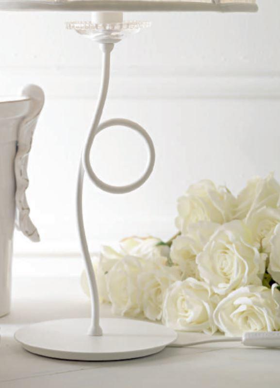 Lume Paris di Febo in Tessuto Tulle con Perle di Vetro e Metallo Verniciato - Offerta di Mondo Luce 24