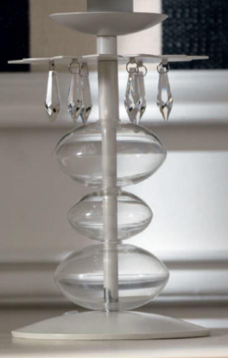 Lampada da Tavolo/Lume Bolle di Sapone di Febo in Metallo Cristallo e Vetro, Varie Finiture - Offerta di Mondo Luce 24