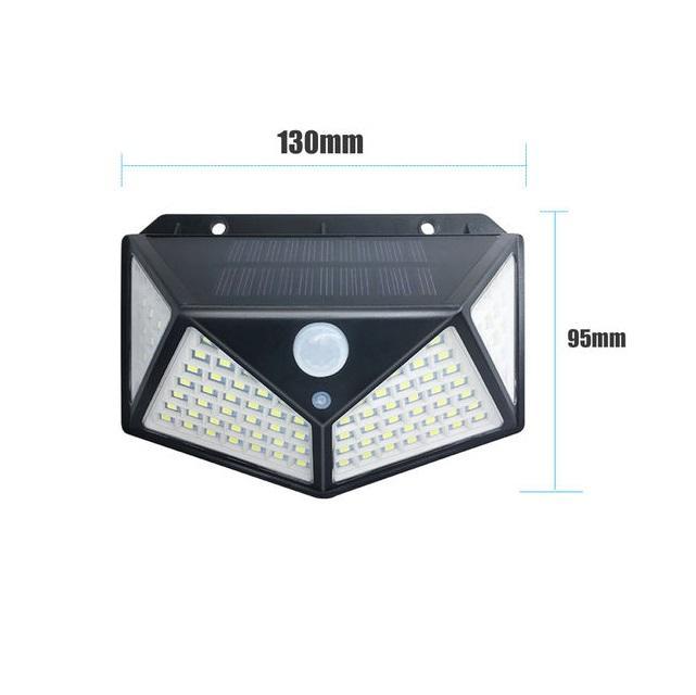 Applique faretto solare induzione 100 LED  luce calda