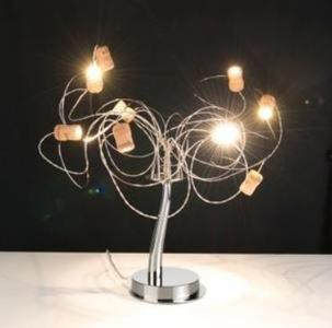 Lampada da Tavolo Wineled di Febo a 9 Luci in Metallo e Tappi di Sughero, Varie Finiture - Offerta di Mondo Luce 24