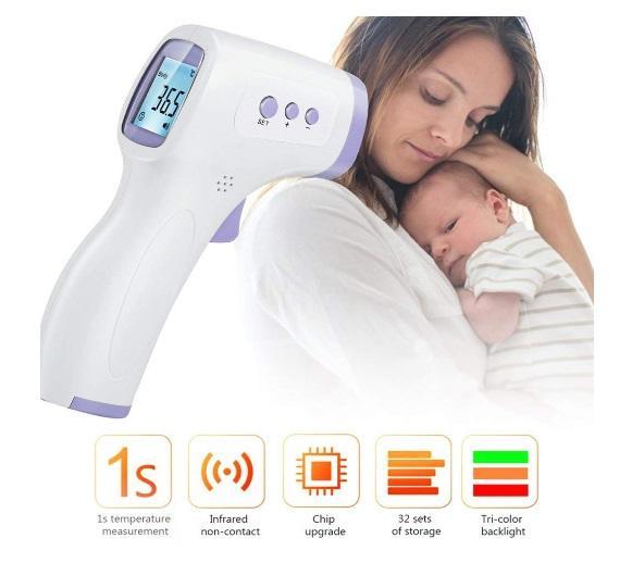 FVE Termometro Digitale a infrarossi Professionale Senza Contatto