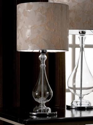 Lume Madame di Febo in Vetro Borosilicato Trasparente e Paralume Noventa Varie Misure - Offerta di Mondo Luce 24