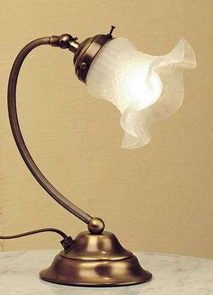 Lume Tulip di Febo in Metallo e Vetro Satinato Smerlato, Varie Finiture - Offerta di Mondo Luce 24