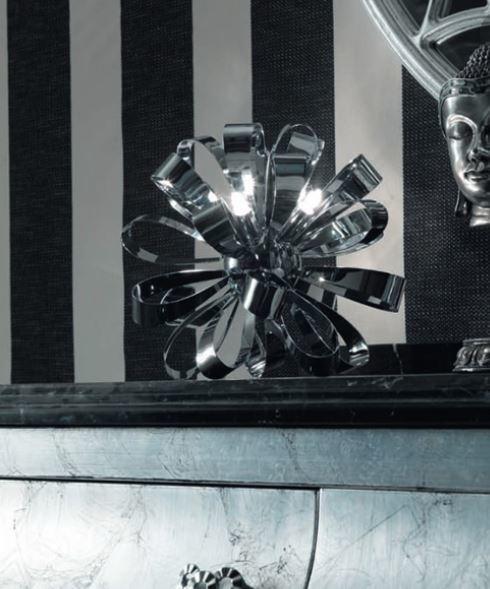 Lume/Lampada da Tavolo M'Ama Non M'Ama di Febo in Fiocchi di Metallo, Varie Misure e Finiture - Offerta di Mondo Luce 24