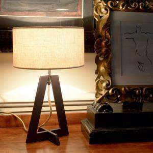 Lampada da Tavolo Aura di Febo con Struttura in Metallo e Diffusore in Tessuto, Varie Finiture - Offerta di Mondo Luce 24