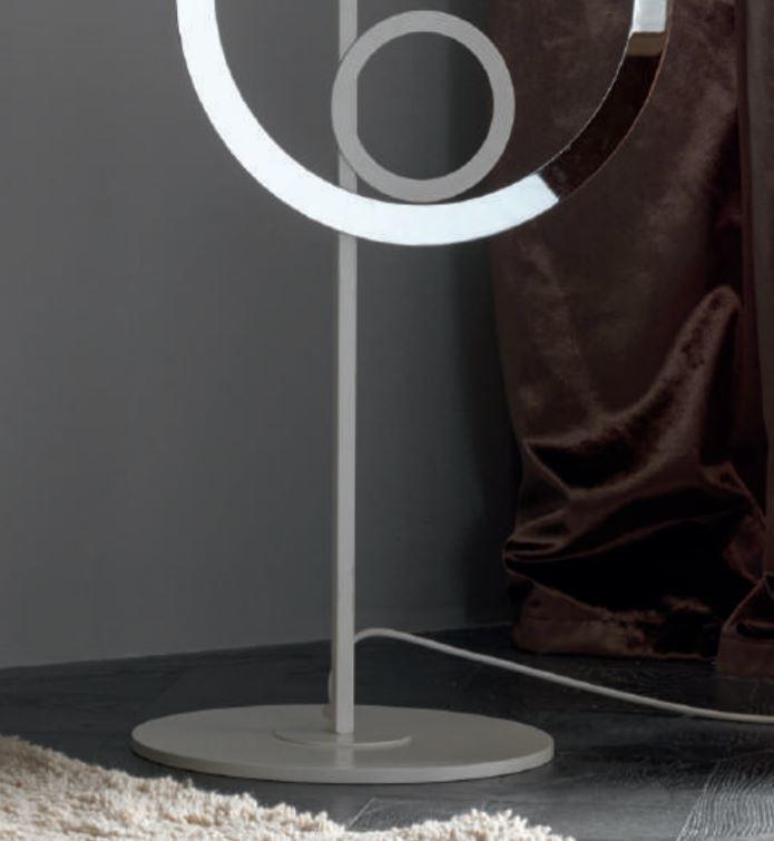 Lampada da Terra Olimpia di Febo con Struttura Componibile in Metallo e Diffusore in Tessuto, Varie Finiture - Offerta di Mondo Luce 24