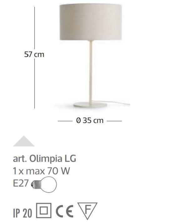 Lampada da Tavolo Olimpia di Febo con Struttura Componibile in Metallo e Diffusore in Tessuto, Varie Finiture - Offerta di Mondo Luce 24
