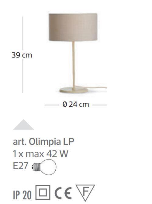 Lume Olimpia di Febo con Struttura Componibile in Metallo e Diffusore in Tessuto, Varie Finiture - Offerta di Mondo Luce 24