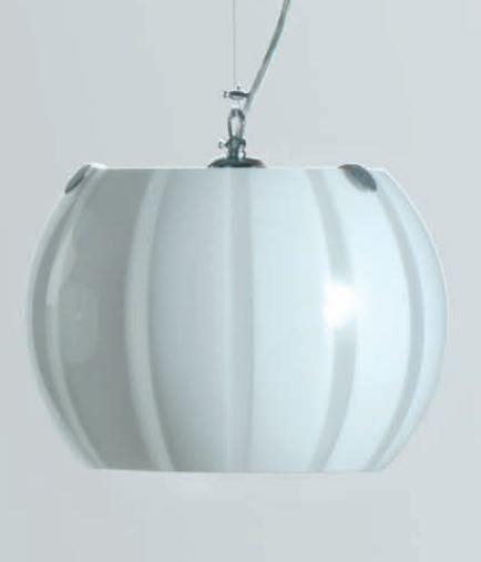 Lampada a Sospensione Balloon di Febo in Metallo e Vetro Soffiato Incamiciato, Varie Misure e Finiture - Offerta di Mondo Luce 24