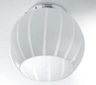 Lampada a Soffitto Balloon di Febo in Metallo e Vetro Soffiato Incamiciato, Varie Misure e Finiture - Offerta di Mondo Luce 24
