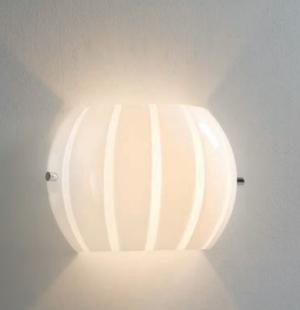 Lampada da Parete Balloon di Febo in Metallo e Vetro Soffiato Incamiciato, Varie Misure e Finiture - Offerta di Mondo Luce 24