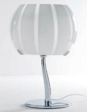 Lampada da Tavolo Balloon di Febo in Metallo e Vetro Soffiato Incamiciato, Varie Finiture - Offerta di Mondo Luce 24