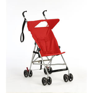 Passeggino leggero pieghevole con parasole da viaggio - Rosso