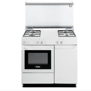 DE LONGHI Cucina a Gas 4 Fuochi con Forno a Gas  85x50 SGW 854  BIANCA