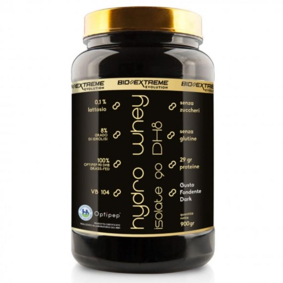 HYDRO WHEY ISOLATE 90 DH8  - Proteine del latte idrolizzate 900 g gusto cioccolato